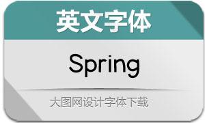 Spring(英文字体)