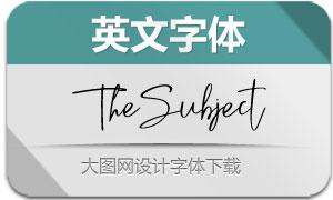 TheSubject(英文字体)