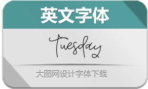 Tuesday(英文字体)