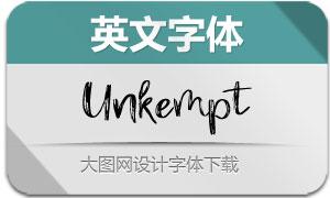 Unkempt(英文字体)
