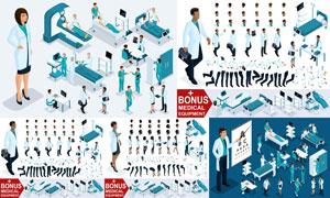 医护人物角色设定创意设计矢量素材