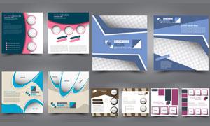 传单画册页面图文排版设计矢量素材