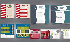 画册单页图文排版设计创意矢量素材