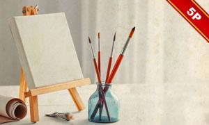 绘画用的画板内容展示效果贴图模板