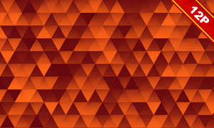 橘红色抽象马赛克图案背景高清图片