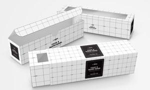 内容物可视食品包装盒贴图模板文件