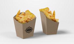 薯条包装展示应用效果贴图分层模板