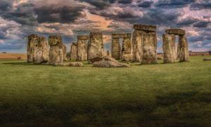 英国威尔特郡的巨石阵摄影高清图片