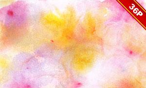 缤纷鲜艳水彩纹理背景PNG图片素材