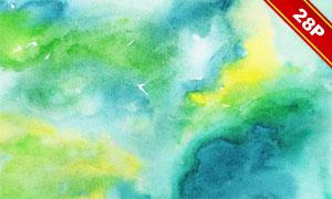 多款高光适用水彩纹理背景PNG图片