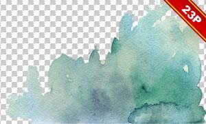 水彩墨迹喷溅效果元素PNG图片素材