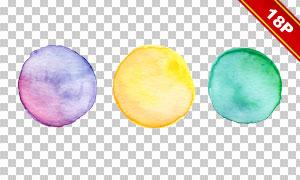 缤纷颜色水彩笔触免抠图片素材集V3