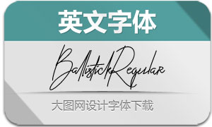 BallistickRegular(英文字体)