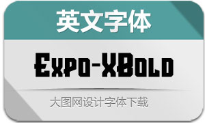 Expo-ExtraBold(英文字体)
