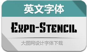 Expo-Stencil(英文字体)