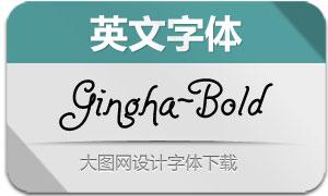 Gingha-Bold(英文字体)