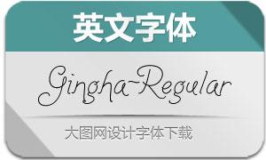 Gingha-Regular(英文字体)