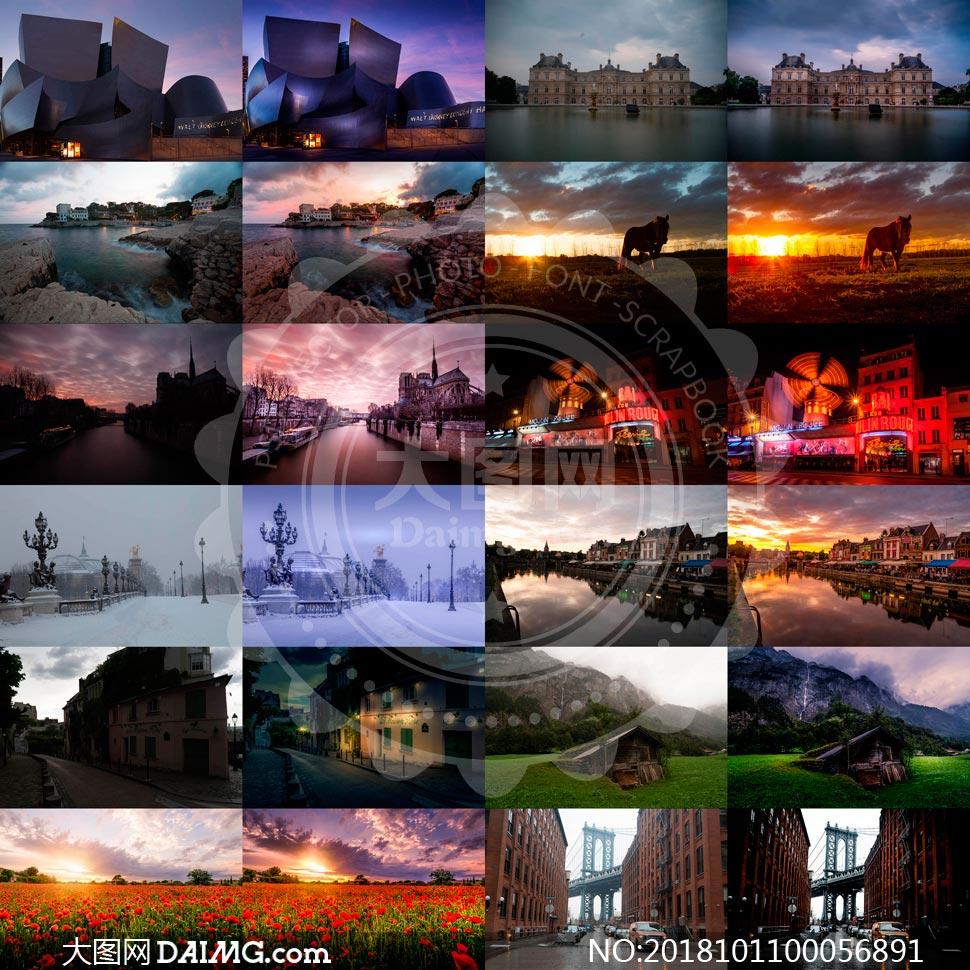 74款夕阳和夜景照片后期美化LR预设