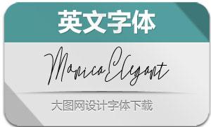 MonicaElegant系列4款英文字体