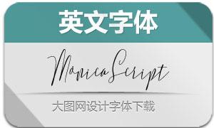 MonicaScript系列2款英文字体