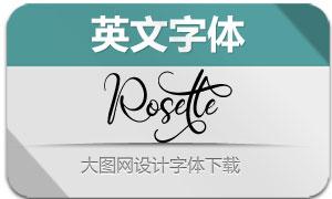 Rosette(英文字体)