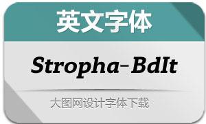 Stropha-BoldItalic(英文字体)