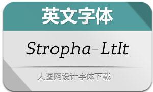 Stropha-LightItalic(英文字体)