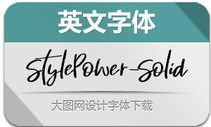 StylePower-Solid(英文字体)