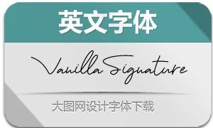 VanillaSignature(英文字体)