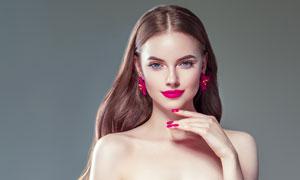中分长发美女模特写真摄影高清图片