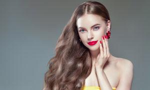 红唇浓妆美女模特人物摄影高清图片