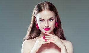 性感香肩抹胸打扮美女摄影高清图片