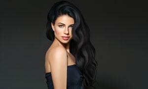 香肩露背抹胸美女人物摄影高清图片