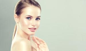 肌肤护理主题美女人物摄影高清图片