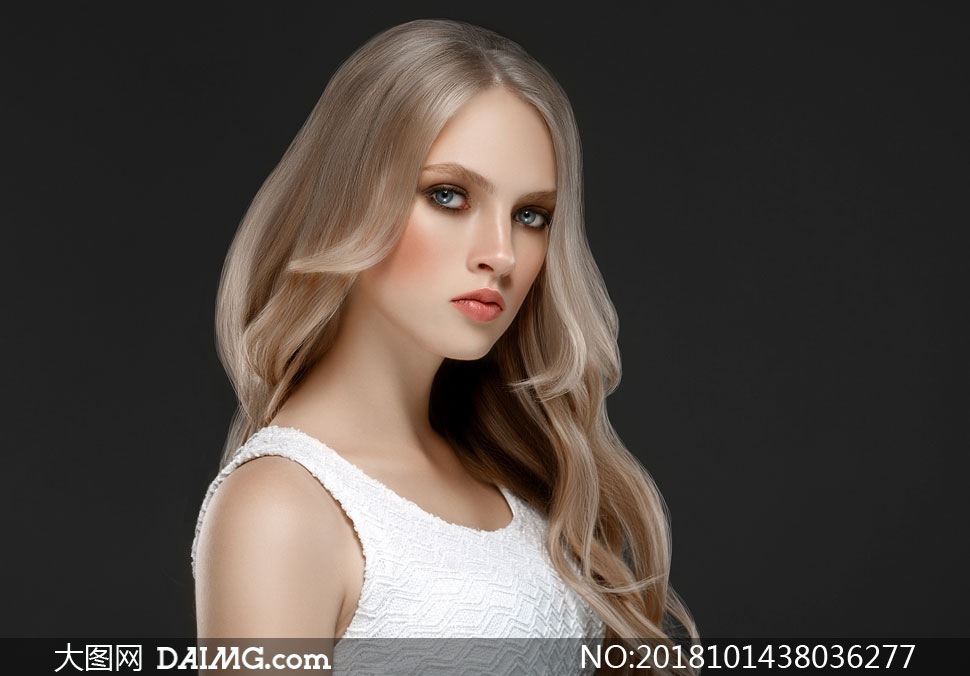 妆容发型模特美女人物摄影高清图片图片