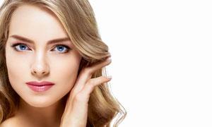 蓝眼睛的金发美女人物摄影高清图片