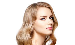 披肩金发精致妆容美女摄影高清图片