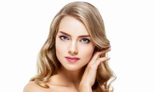 蓝眼金发美女人物写真摄影高清图片