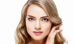 蓝眼金发美女人物特写摄影高清图片