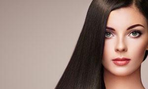 丝质柔滑效果披肩秀发美女高清图片