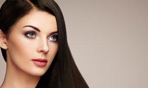 长发发型美女模特人物摄影高清图片