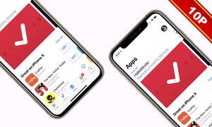 iPhoneXs系列屏幕内容展示贴图模板