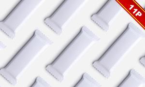 多种展示方式的小零食包装贴图模板