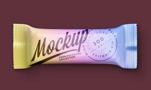 光滑质感零食包装效果展示贴图模板