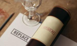 纸张与瓶身上的标志应用贴图源文件