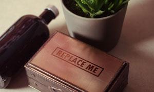 小木盒盒盖上的标志贴图模板源文件