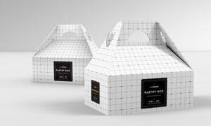 手提式蛋糕盒图案应用展示贴图模板