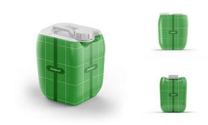 高密度聚乙烯塑料桶贴图模板源文件