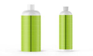 哑光质感的塑料瓶贴图效果模板素材