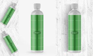 塑料材质饮料瓶子包装贴图分层模板